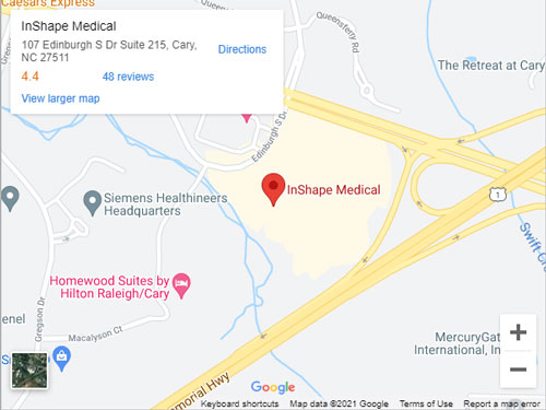 Get Directions to InShape Medical in Cary, NC